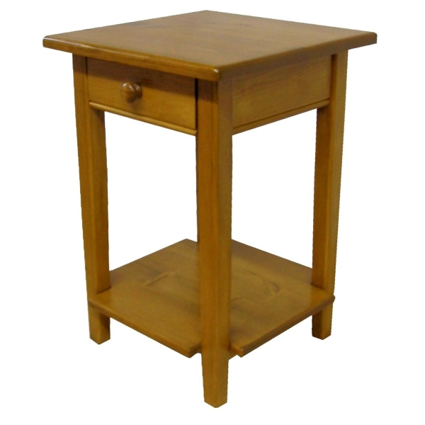 JW 180-1 End Table with shelf & drawer