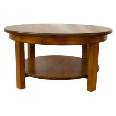 JW 190-9 Round Coffee Table with shelf