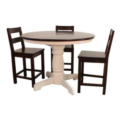 Round Pedestal Table & Studio Bar Chair