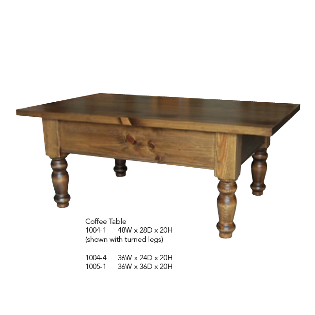 1004-1 Coffee Table With turned legs