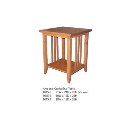 1015-1 Arts and Crafts End Table