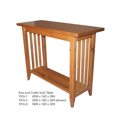 1016-1 Arts and Crafts Sofa Table