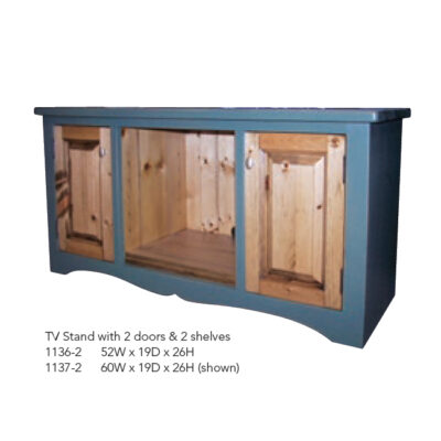 1136-2 TV Stand with 2 Doors and 2 Shelves