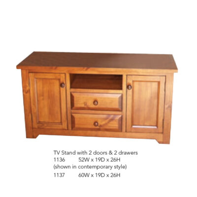 1136 TV Stand with 2 Door and 2 Drawers