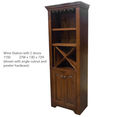 1150 Wine Station with 2 Doors