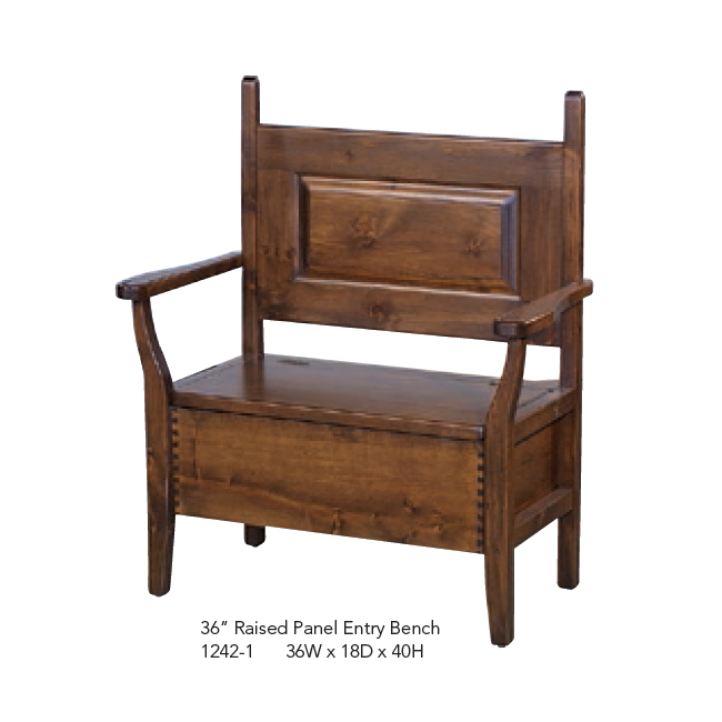 1242-1 Raised Panel Entry Bench