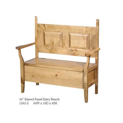 1242-2 44 inch Raised Panel Entry Bench