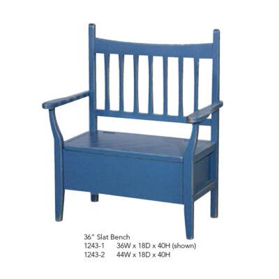 1243-1 1243-2 36 inch Slat Bench