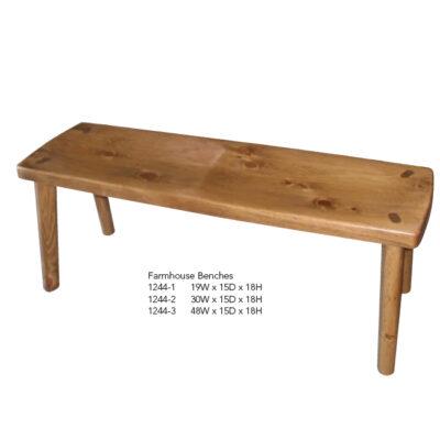 1244-1 Farmhouse Benches