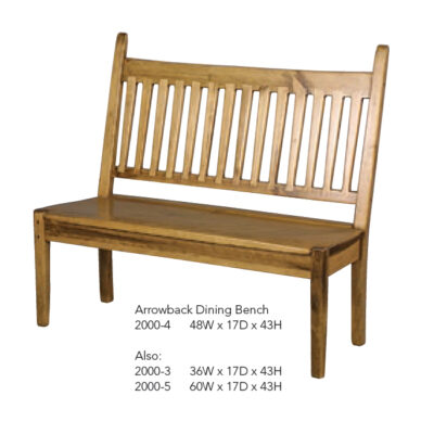 2000-4 Arrowback Dining Bench