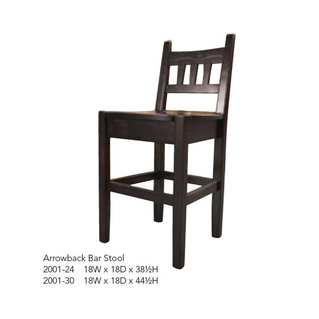 2001-24 Arrowback Bar Stool