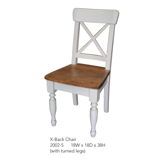 2002-5 X-Back Chair White