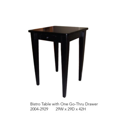 2004-2929 Bistro Table with 1 Go-Thru Drawer
