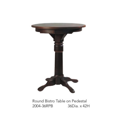 2004-36RPB Round Bistro Table on Pedestal