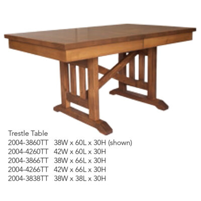 2004-3860TT Trestle Table