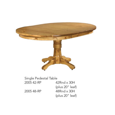 2005-42RP Single Pedestal Table