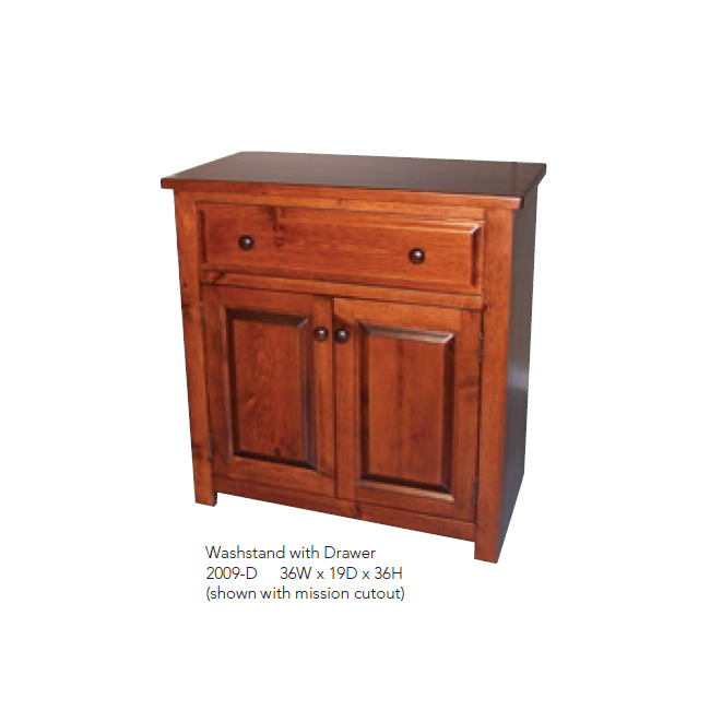 2009-D Washstand with Drawer