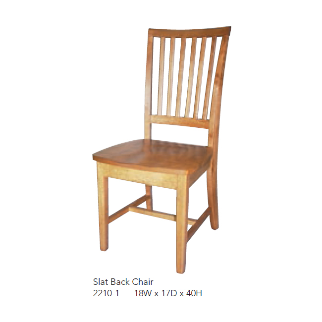 2210-1 Slat Back Chair