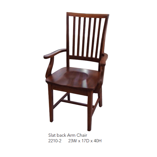 2210-2 Slat Back Arm Chair