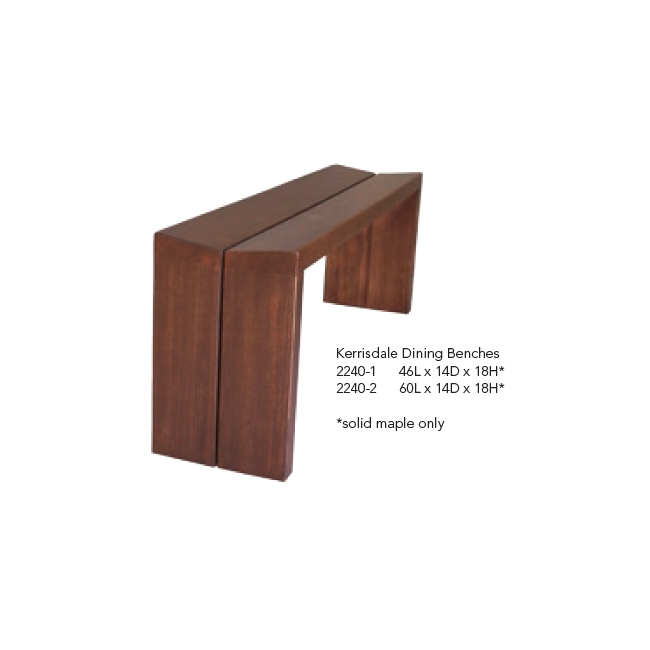 2240-1 Kerrisdale Dining Benches