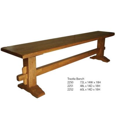 2250 Trestle Bench