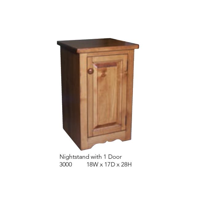 3000 Nightstand with 1 Door