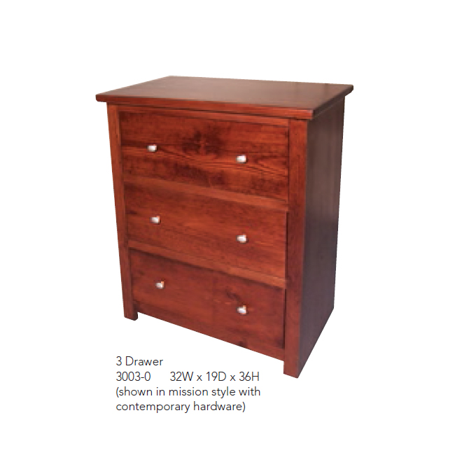 3003-0 3 Drawer Dresser