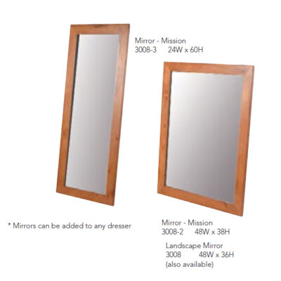 3008-1 Mirrors - Mission Style