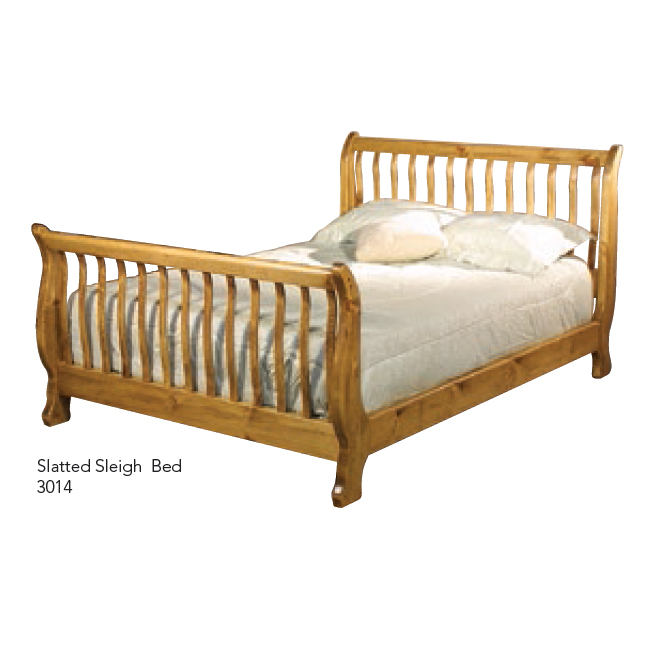 3014 Slatted Sleigh Bed