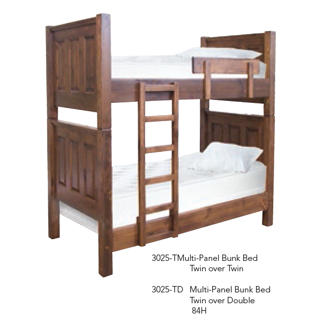 3025-T Multi-Panel Bed Twin over Twin