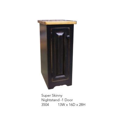 3504 Super Skinny Nightstand and 1 Door
