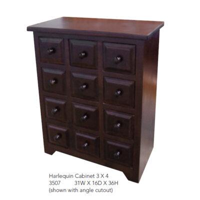 3507 Harlequin Cabinet 3x4