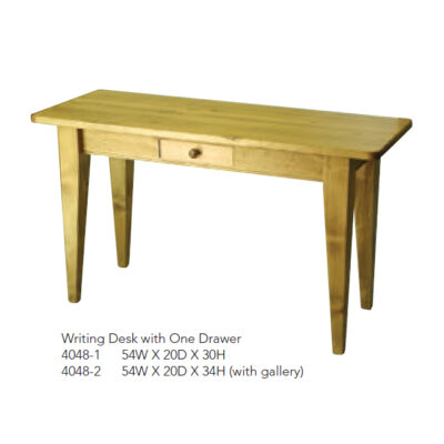 4048-1 Writing Desk with One Drawer