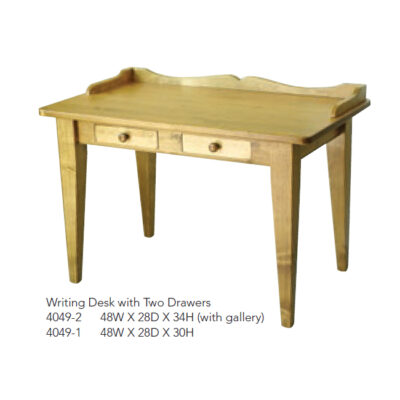4049-2 Writing Desk with Two Drawers