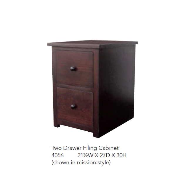 4056 Two Drawer Filing Cabinet