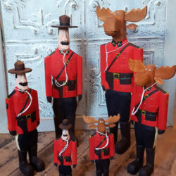 Small Carved Mounties